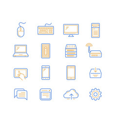 computer and mobile devices vector image