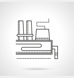 industrial area flat line icon vector image