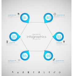 Infographic overview design template with blue vector image vector image