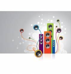 loudspeakers garden vector image vector image