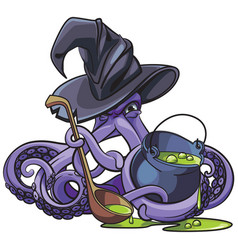 octopus the witch vector image
