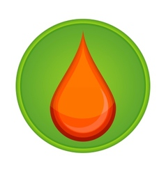 medic symbol blood drop red color vector image vector image