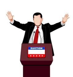 Politician greetings vector image