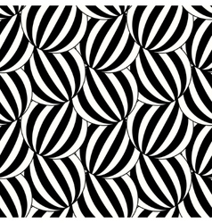 The pattern of black and white striped circles vector image vector image