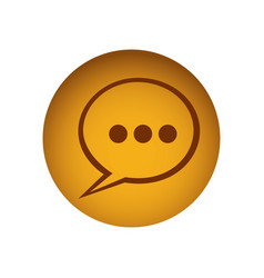 yellow emblem chat bubble icon vector image vector image