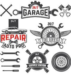 Car service labels set vector