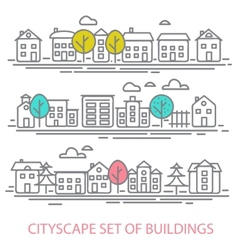 CITISCAPE SET vector image