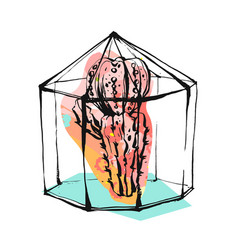 Hand drawn abstract with rough vector