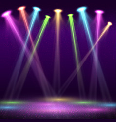 Modern interior of nightclub with empty show stage vector