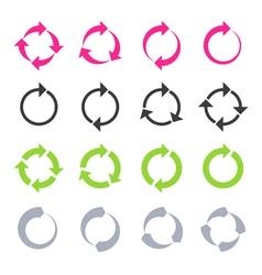 Rotation reload refresh circle cycle arrow sig vector image