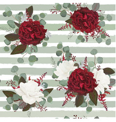 seamless floral pattern design with flowers vector image