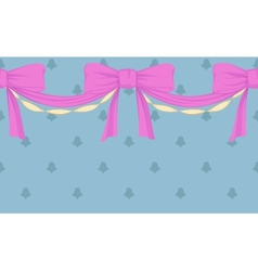 border with bows vector image