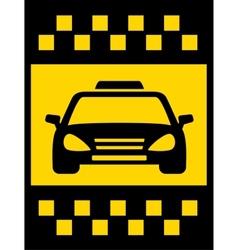 Cab transport background vector