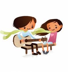 cartoon guitarist vector image