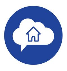 cloud home icon computing concept vector image vector image