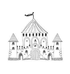 Old engraved of Chateau de Pau vector image