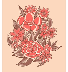 pretty pink flowers vector image vector image