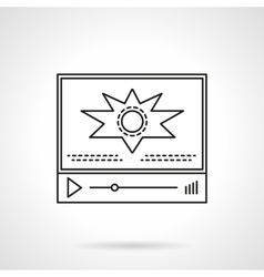 Video blog player flat line icon vector image
