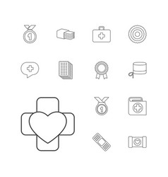 13 first icons vector