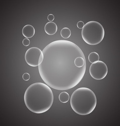 Abstract background with gray glossy bubble vector