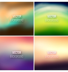 Abstract colorful blurred backgrounds set 25 vector image