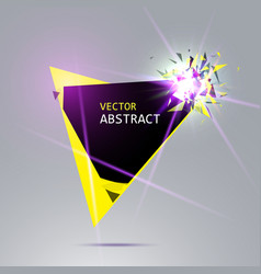 banner with explosion black and yellow pieces vector image