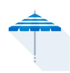 Beach umbrella flat style icon vector
