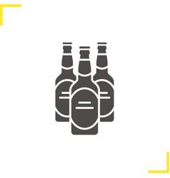 Beer bottles glyph icon vector