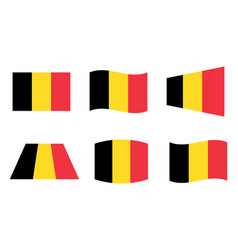 belgium flag official colors of the belgian vector image