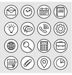 business line icon vector image