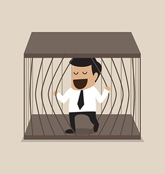 Businessman escape from jail vector
