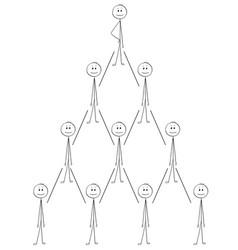 Cartoon of business organization team hierarchy vector