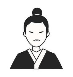 Character japanese man clothes culture vector