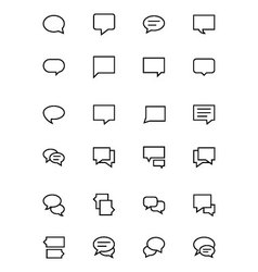 Chat Messages Line Icons 2 vector