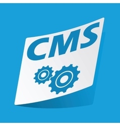 CMS settings sticker vector