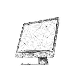 computerization low-poly vector image