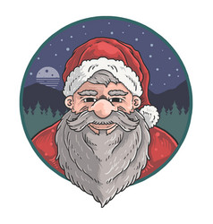 Cute santa claus old man vector