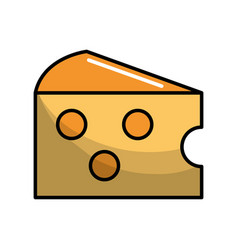 delicious cheese food icon vector image