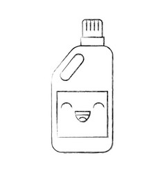 Detergent bottle kawaii character vector