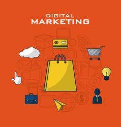 Digital marketing business vector