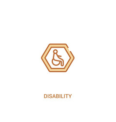 Disability concept 2 colored icon simple line vector