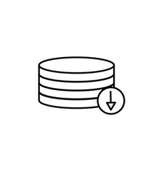 Download from database icon vector