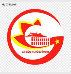 emblem city of vietnam vector image