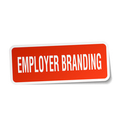 Employer branding square sticker on white vector