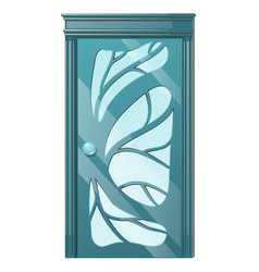 entrance door with exquisite ornamentation vector image