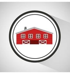 farm countryside house home farmhouse design vector image