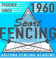 Fencing sport leaflet vector