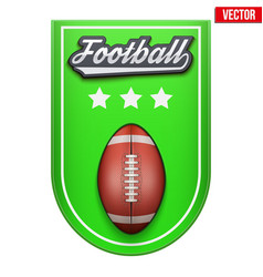 Football badge and label vector