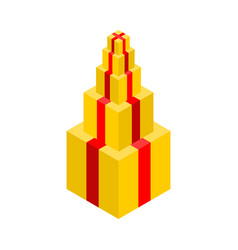 gift pyramid isolated lot of gift box vector image