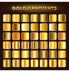 Gold gradients set vector